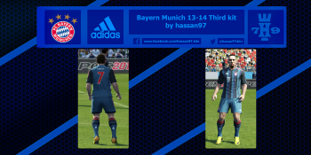 pes 2013 Bayern Munich 13-14 Third kit by hassan97 download