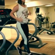 JoJo Levesque Exercising - July 26, 2013