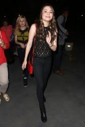Miranda Cosgrove & Jennette McCurdy - leaving the Bruno Mars concert in LA 7/27/13