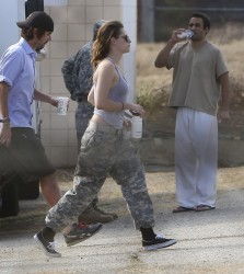Kristen Stewart - on the set of 'Camp X-Ray' in LA 7/26/13