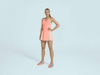 "Maria Sharapova modelling her ""2013 US Open"" dress"