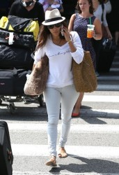 Eva Longoria - at LAX Airport 8/6/13