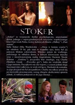 Tył ulotki filmu 'Stoker'