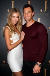 Jennifer Hawkins - launch of her new self-tanning range J-Bronze in Sydney 8/15/13