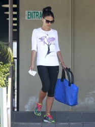 Jordana Brewster - out in Studio City 8/16/13