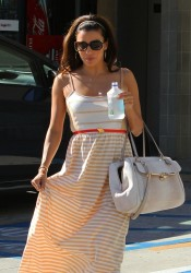 Eva Longoria - leaving a nail salon in West Hollywood 8/17/13