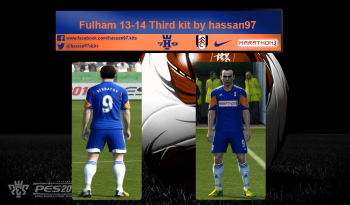 pes 2013 Fulham 2013-14 Third kit by hassan97