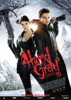 Przód ulotki filmu 'Hansel i Gretel: Łowcy Czarownic'