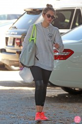Ashley Benson - Leaving the gym in LA 8/24/13