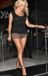 Pamela Anderson - at Katsuya restaurant in Hollywood 8/26/13