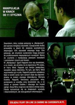 Tył ulotki filmu 'Manipulacja'