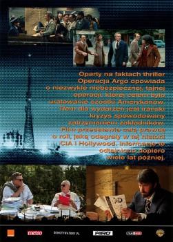Tył ulotki filmu 'Operacja Argo'