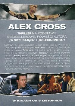 Tył ulotki filmu 'Alex Cross'