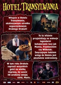 Przód ulotki filmu 'Hotel Transylwania'