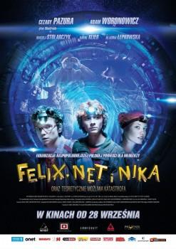 Polski plakat filmu 'Felix, Net i Nika Oraz Teoretycznie Możliwa Katastrofa'