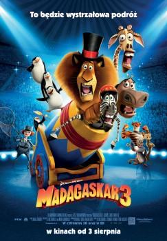 Polski plakat filmu 'Madagaskar 3'