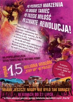 Tył ulotki filmu 'Step Up 4 Revolution'