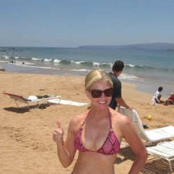 Nancy O'Dell Wearing a Bikini in Maui - August 25, 2013