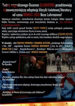 Tył ulotki filmu 'Koriolan'