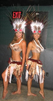 NIA PEEPLES bra - revealing hula outfit