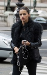 Adriana Lima - out in Paris 9/17/13