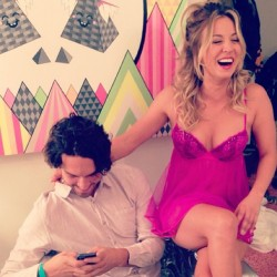 Kaley Cuoco Wearing Lingerie - September 17, 2013
