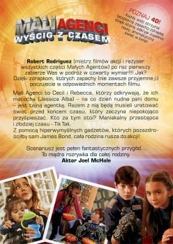 Tył ulotki filmu 'Mali Agenci. Wyścig Z Czasem 4D'