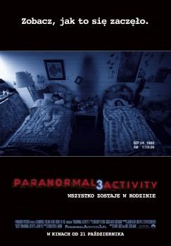 Polski plakat filmu 'Paranormal Activity 3'
