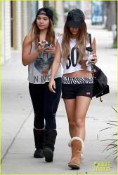 Vanessa & Stella Hudgens - Going to pilates class in Studio City 9/20/13