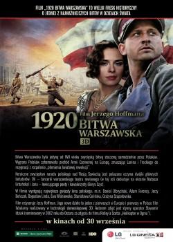 Przód ulotki filmu '1920 Bitwa Warszawska'