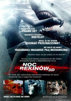 Tył ulotki filmu 'Noc Rekinów'