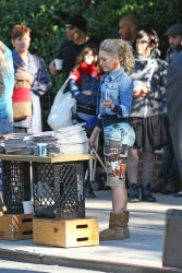 AnnaSophia Robb - on the set of 'The Carrie Diaries' in NYC 9/23/13