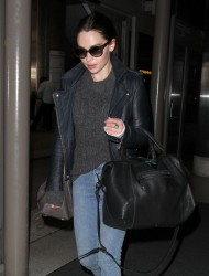Emilia Clarke - at LAX Airport 9/23/13