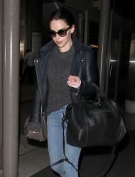 Emilia Clarke - at LAX Airport 9/23/13