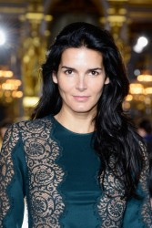 Angie Harmon - Stella McCartney Spring 2014 fashion show in Paris 9/30/13