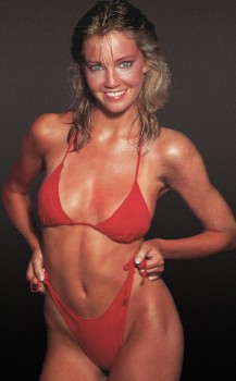 Heather Locklear: Sexy Red Bikini 80's: HQ x 1