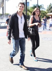Peyton List - on the set of Extra in Universal City 10/7/13