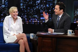 Miley Cyrus - visits Late Night with Jimmy Fallon in NYC 10/8/13