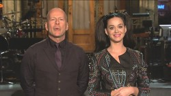 Katy Perry and Bruce Willis in SNL Promo