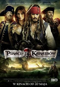Polski plakat filmu 'Piraci Z Karaibów: Na Nieznanych Wodach'