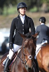 Kaley Cuoco at a Horse Riding Competition in Santa Barbara on October 14, 2013