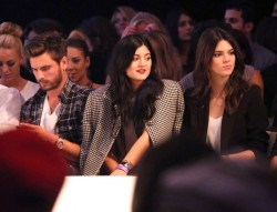 Kendall & Kylie Jenner At The Day By Day Fashion Show 10/15/13