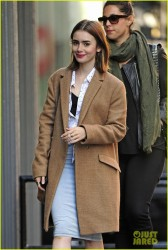 Lily Collins - Out in NYC 10/18/13