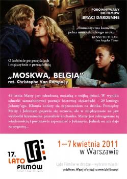 Tył ulotki filmu 'Moskwa, Belgia'