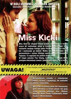 Tył ulotki filmu 'Miss Kicki'