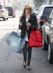 Ashley Tisdale - Shopping in Beverly Hills 10/25/13