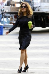 "Salma Hayek - On Set of ""How to Make Love Like an Englishman"" in Los Angeles (10/31/13)"