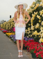 Whitney Port - Myer marquee Oaks Day in Melbourne 11/7/13