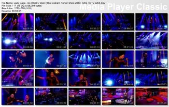 Lady Gaga - Do What U Want + Venus (The Graham Norton Show 2013) HDTV 720