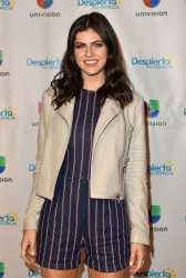 Alexandra Daddario - On set of 'Despierta America' in Miami 5/12/17
